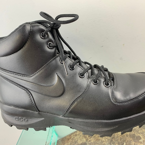 Nike ACG Black Leather Lace Up Hiking Boots 9M